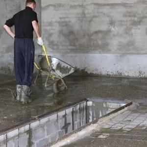 Заливка бетона в гараже